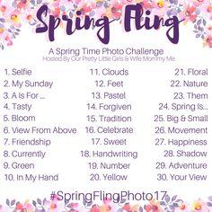 April 2017 Spring Fling Photo Challenge