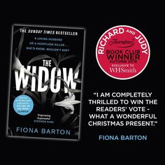 We are very excited to announce that you voted The Widow as your favourite book from the Richard and Judy Autumn Book Club. Have you read this thrilling book? Richard And Judy Books, Book Club Questions, Dark Void, How To Get Thick, The Sunday Times, Reading Groups, Husband Love, Very Excited, Autumn