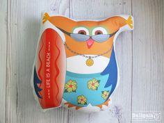 Plush owl  Beach bum  Matt by buligaia on Etsy, $23.00