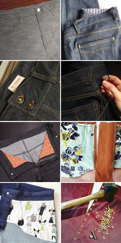 Beautiful jeans-making construction details & denim inspiration! #gingerjeans http://closetcasefiles.com/ginger-jeans-construction-details-pretty-guts/
