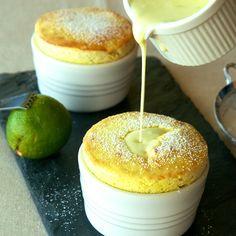 Mango Soufflé with Coconut-Lime Crème Anglaise - Oui, Chef