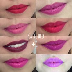 Swatches de los labiales líquidos mate de Vogue en mi canal yt: KatieBroMakeup