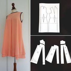 52 Ideas sewing clothes women dresses costura for 2019 Sewing Clothes Women, Dress Clothes For Women, Dress Sewing Patterns, Clothing Patterns, Fashion Sewing, Diy Fashion, Fashion Clothes, Sewing Blouses, Diy Clothes Refashion