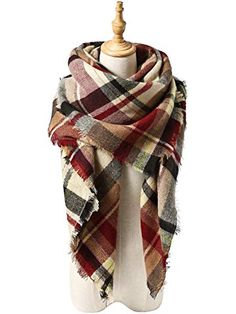 Women's Scarves Hearty Circle Lattice Cotton Scarf Autumn And Winter Women Lady Women Vintage Long Soft Printed Scarves Shawl Wrap Scarf Trendy Scarf Spare No Cost At Any Cost