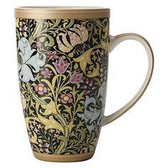 Maxwell & Williams Bone China - William Morris Golden Lily, Black, Coupe Mug, 420ml