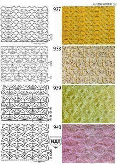 Patterns in the piggy bank (crocheting) - Country Mom Crochet patterns - for your collection)) / Crochet / Crochet for beginners Crochet Motifs, Crochet Borders, Crochet Diagram, Crochet Stitches Patterns, Crochet Chart, Knitting Stitches, Crochet Lace, Stitch Patterns, Knitting Patterns