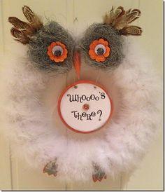 Owl wreath.