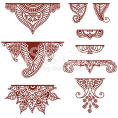 Mehndi Ornaments royalty-free stock vector art