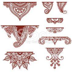 Mehndi Ornaments royalty-free stock vector art