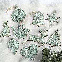 Vintage Duck Egg Blue Tags