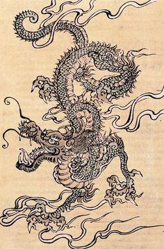 Le dragon chinois est une chimère caractérisée par un corps serpentin et une féroce gueule barbue. Les détails de sa morphologie varient selon les sources et les époques.