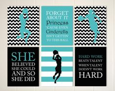 Inspirational quote art girls quotes wall art by PicabooArtStudio