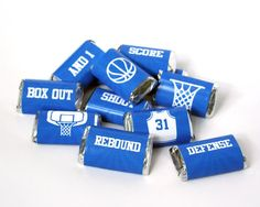 Basketball Mini Candy Bar Wrappers. Great for locker treats and BB parties! Available in all colors. By Studio 120 Underground, $4