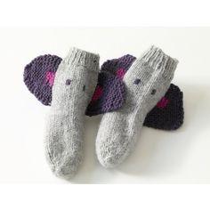 Knit Child's Elephant Socks in Lion Brand Wool-Ease