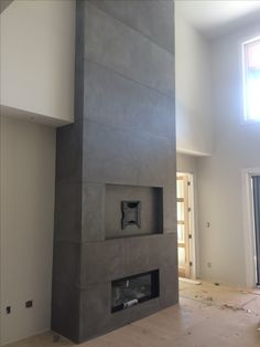 Concrete Design, Fireplace Surrounds, Bathroom Lighting, Bathtub, Mirror, Furniture, Home Decor, Standing Bath, Homemade Home Decor