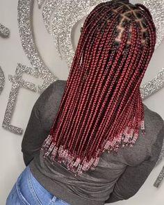 Box Braids Hairstyles For Black Women, Braids Hairstyles Pictures, Cute Braided Hairstyles, Feed In Braids Hairstyles, Black Girl Braids, Black Women Braids, Blue Box Braids, Hairstyle Short, School Hairstyles