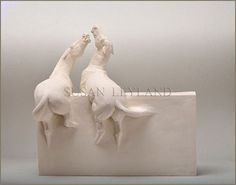 Sculptures and paintings by Susan Leyland Horse Sculpture, Sculpture Clay, Animal Sculptures, Symbolic Art, Contemporary Sculpture, Equine Art, Horse Art, Artist At Work, New Art