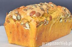 Chleb żytni z dynią. Jeden z lepszych chlebów jakie ostatnio upiekłam. Jest to… Bread Recipes, Cooking Recipes, Polish Recipes, Cakes And More, Rolls, Pumpkin, Pudding, Cheese, Food And Drink