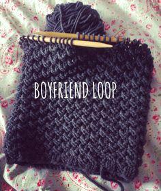 Men's Loop: Knitting pattern for a boyfriend loop - Stricken Baby Sachen Yarn Projects, Knitting Projects, Crochet Projects, Stitch Patterns, Knitting Patterns, Crochet Patterns, Knitting Stitches, Knitting Needles, Sewing Dress