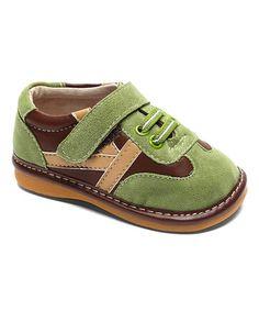 Look what I found on #zulily! Green & Brown Forest Hunter Squeaker Sneaker #zulilyfinds