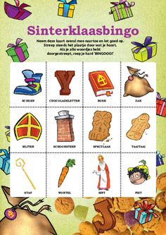 Bingo, Saint Nicolas, School, Kids, Training, Crowns, Gifts, Young Children, Boys