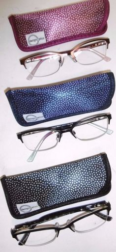 cd654f01ef 3 PK Design Optics Semi-rimless Ladies Fashion Reading Glasses 3.00 W cases  V19