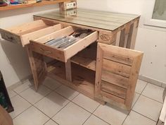 Splendid DIY Pallet Projects for Kitchen | Recycled Pallet Ideas