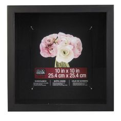 "Studio Décor® Extra Deep Shadowbox, Black 10"" x 10"""