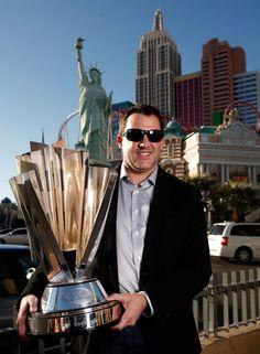 Tony Stewart - Champions Week in Las Vegas standing in front of New York New York Hotel.