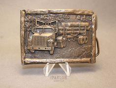 Vintage Logging Truck Belt Buckle By Arroyo Grande Arroyo Grande, Vintage Belt Buckles, Truck, Store, Inspiration, Ebay, Biblical Inspiration, Trucks, Larger