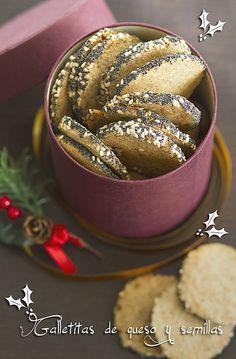 Galletitas de queso y semillas | Recetas Fáciles de Cocina: A mi lo que me gusta es cocinar