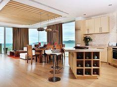 Bangtao beach condo rental - Dining/Kitchen/Living