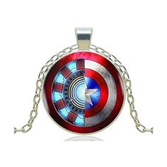 Captain America Pendant Necklace for Women Men Silver Chain Vintage... ($6.69) ❤ liked on Polyvore featuring men's fashion, men's jewelry, men's necklaces, mens silver necklace, mens pendant necklaces, mens vintage necklaces, mens silver chains and mens chains