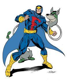 Blue Falcon and Dynomutt Classic Cartoon Characters, Cartoon Tv Shows, Favorite Cartoon Character, Cartoon Pics, Comic Book Characters, Comic Books Art, Old School Cartoons, Retro Cartoons, Classic Cartoons