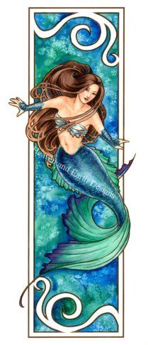 Nouveau Mermaid - Water - Cross Stitch Pattern