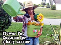 Ring Sling Flower Pot Costume for babywearers.