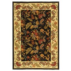 Safavieh�Chelsea 8-ft 9-in x 11-ft 9-in Rectangular Black Transitional Wool Area Rug $761.19