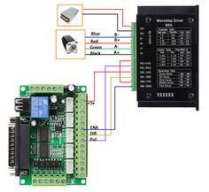 Cnc Router Plans, Diy Cnc Router, Cnc Plans, 3 Axis Cnc, Arduino Cnc, Cnc Controller, Electrical Circuit Diagram, Electronics Basics, Stepper Motor