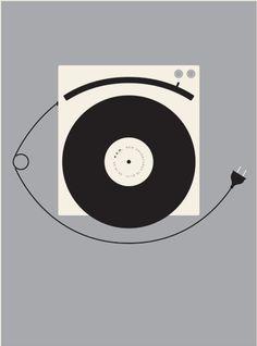 Poster by Jason Munn, 2012, R.E.M. New Adventures in Hi-Fi.