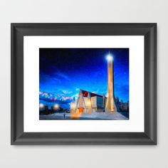 The Holidays In Beautiful Costa Rica Framed Art Print by Mark E Tisdale - $47.00 - Christmas Meets Retro Modern architecture in Tropical Liberia Costa Rica