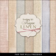 New Freebies Kit of Backgrounds - Prague Linen:Far Far Hill - Free database of digital illustrations and papers