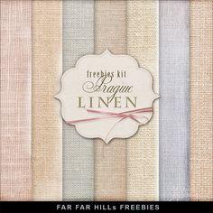 August 9, 2014 Backgrounds Far Far Hill: New Freebies Kit of Backgrounds - Prague Linen