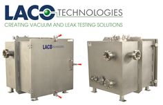 """This custom high vacuum chamber was built for a technology institute for researching nano-scale devices for solar energy. The vacuum chamber features a 24"""" stainless steel cube design, custom vacuum ports, view ports, and feedthroughs. The chamber is rated for vacuum levels down to 10^-6 Torr. Find out more about our vacuum chamber solutions: http://www.lacotech.com/vacuumchambers #vacuumchamber #vacuumchambers #vacuum #nanotechnology #solar #solarenergy #nanodevice #vacuumtechnology"""