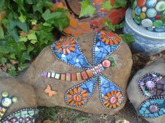 Orange Dragonfly by Poppins Mosaics and Crafts, via Flickr