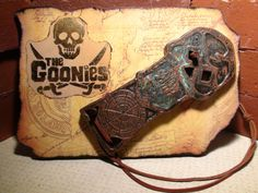 Movie Prop- The Goonies Wall Display- Copper Bones- Replica- One Eyed Willy