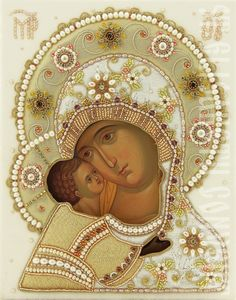 Wedding Icon of the Mother of God of Vladimir - The Workshop of St Elisabeth…
