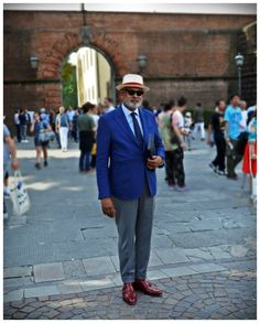 On the street Pitti Uomo Florence with Mr. Ignatious Joseph www.maurodelsignore.com