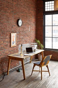"""DIY Desk from a Door"" This DIY desk made from a door is a great project for those looking to upcycle old stuff. From MOTHER EARTH NEWS"