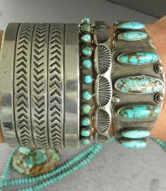 Big-WIDE-CHISELED-63g-OLD-FREDDIE-MALONEY-NAVAJO-Cuff-Bracelet