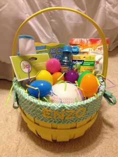 Inexpensive Easter Basket Idea for Baby; First Easter Basket